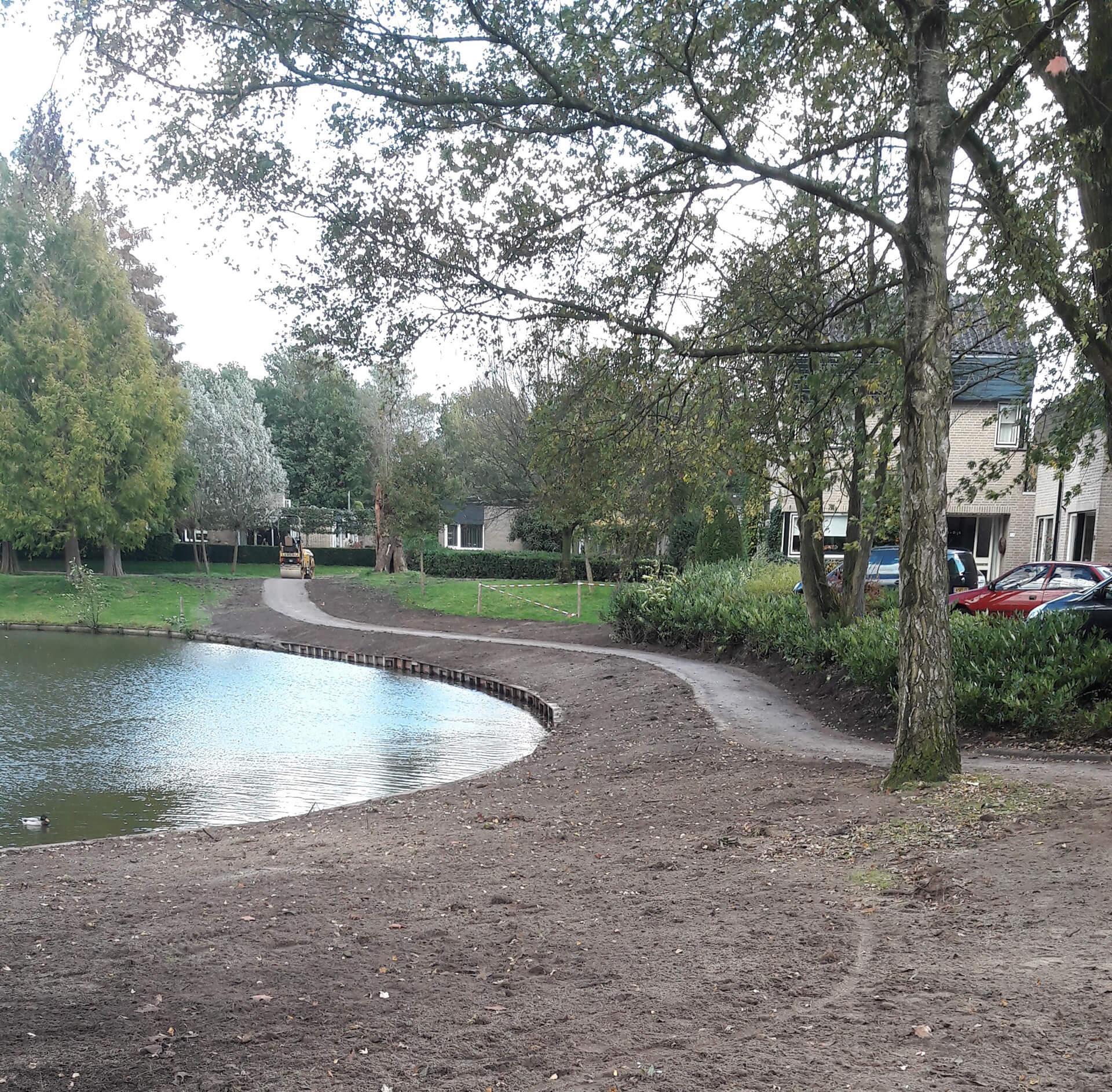 Aanleg Half Verhard Pad Op De Thij In Oldenzaal